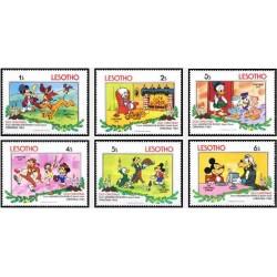 6 رقم از 8 عدد تمبر کریستمس - شخصیتهای کارتونهای والت دیسنی - لسوتو 1983