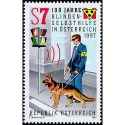 1 عدد تمبر صدمین سال خدمات خود راهنما برای نابینایان - اتریش 1997