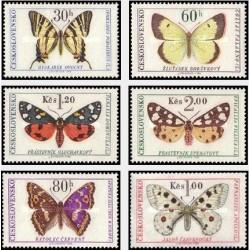 6 عدد تمبر پروانه ها و بیدها - چک اسلواکی 1966 قیمت 11.2 دلار