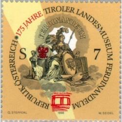 1 عدد تمبر 175مین سال تاسیس موزه ملی تیرول بنام فردینامدوم  - اتریش 1998