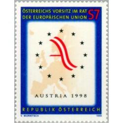 1 عدد تمبر ریاست اتریش بر اتحادیه اروپا - اتریش 1998