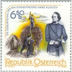 1 عدد تمبر صدمین سال تولد هانس کودلیچ - فعال سیاسی - اتریش 1998