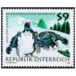 1 عدد تمبر شکار و محیط زیست - اتریش 1998