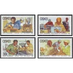 4 عدد تمبر مشاغل کوچک - سیسکی آفریقای جنوبی 1988
