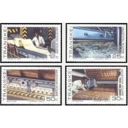 4 عدد تمبر صنعت کبریت - ترنسکی آفریقای جنوبی 1985