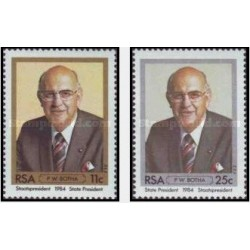 2 عدد تمبر مراسم تحلیف پرزیدنت بوتا - آفریقای جنوبی 1984