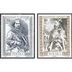 2 عدد تمبر پرتره فرمانروایان لهستانی - لهستان 1989