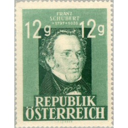1 عدد تمبر یادبود فرانتس شوبرت - آهنگساز - اتریش 1947