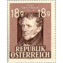 1 عدد تمبر یادبود فرانتس گریلپارزر - نویسنده - اتریش 1947