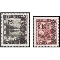 2 عدد تمبر سورشارژ سری پستی - اتریش 1947