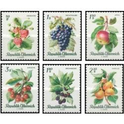6 عدد تمبر گونه های میوه های خانگی - اتریش 1966