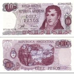 اسکناس 10 پزو - آرژانتین 1976