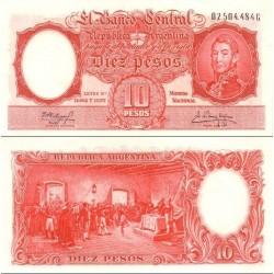 اسکناس 10 پزو - آرژانتین 1954