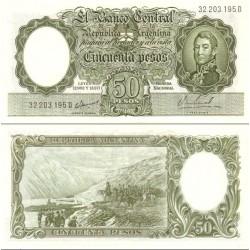 اسکناس 50 پزو - آرژانتین 1954