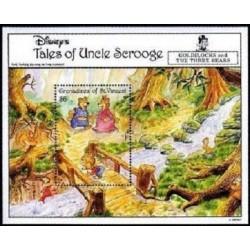 سونیرشیت قصه های عمو اسکروچ  - شخصیتهای کارتونی والت دیسنی - گرندین سنت وینسنت 1992 قیمت 5.6 دلار