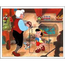 سونیرشیت 50مین سالگرد تولید اولین فیلم بلند کارتونی دیسنی - پینوکیو  - گرنادا 1987 قیمت 6.7 دلار