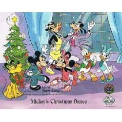 سونیرشیت کریستمس - رقص میکی ماوس - والت دیسنی - سیرالئون 1988  قیمت 6.7 دلار