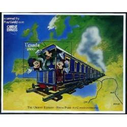 سونیرشیت قطار اکسپرس شرقی میکی ماوس- شخصیتهای کارتونی والت دیسنی-  اوگاندا 1996 قیمت 9 دلار