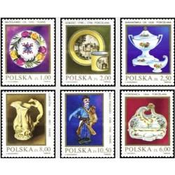 6 عدد تمبر چینی و سرامیکهای لهستانی - لهستان 1982
