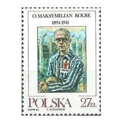 1 عدد تمبر تقدیس از پدر ماکسیمیلیان کولبه - کشیش - لهستان 1982
