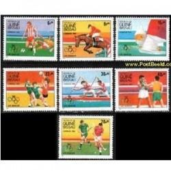 7 عدد تمبر المپیک - گینه بیسائو 1984