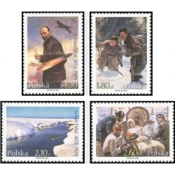 4 عدد تمبر تابلو نقاشی یادبود 150مین سالگرد تولد جولیان فالات - لهستان 2003 قیمت 5.8 دلار