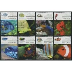 8  عدد تمبر نمایشگاه ملی تمبر ورشو - ماهیهای مرجانی  - لهستان 2014