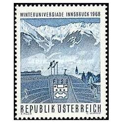 1 عدد تمبر مسابقات زمستانی دانشگاهها - اتریش 1968