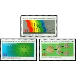 3 عدد تمبر برندگان جایزه نوبل - جمهوری فدرال آلمان 1979
