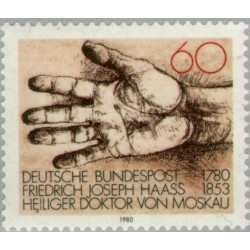 1 عدد تمبر 200مین سال تولد دکتر جوزف هاس - آهنگساز و معلم موسیقی - جمهوری فدرال آلمان 1980