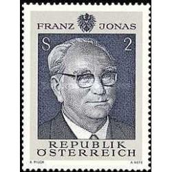 1 عدد تمبر 70مین سالگرد تولد رئیس جمهور فدرال دکتر فرانز جوناس - اتریش 1969