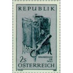 1 عدد تمبر روز جهانی پس انداز  - اتریش 1969