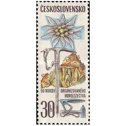 1 عدد تمبر 50مین سالگرد باشگاه آلپاین اسلواک - چک اسلواکی 1971