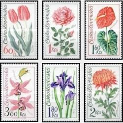 6 عدد تمبر نمایشگاه گل الوموک - چک اسلواکی 1973