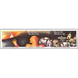 3 عدد تمبر 200مین سال جنبش استقلال - B - برزیل 1989