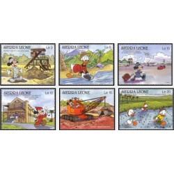6 رقم از 10 عدد تمبر  کاراکترهای والت دیسنی  -سیرالئون 1990