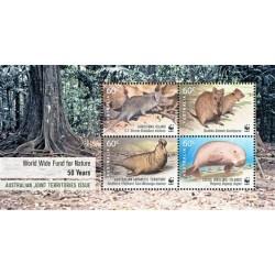 سونیرشیت 50مین سالگرد WWF - تمبر مشترک قلمروهای تحت فرمان استرالیا - 4 - استرالیا 2011