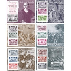 6 عدد سونیرشیت کلمبو - تمبر مشترک پرتغال، اسپانیا، ایتالیا و آمریکا - پانصدمین سال کشف آمریکا - پرتغال 1992