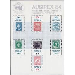 سونیرشیت نمایشگاه جهانی تمبر آسیپکس ملبورن - استرالیا 1984