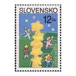1 عدد تمبر مشترک اروپا - Eropa Cept - اسلواکی 2000