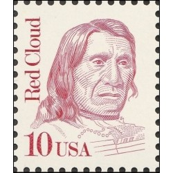 1 عدد تمبر یادبود رد کلود - رهبر سرخپوستان - آمریکا 1987