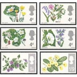 6 عدد تمبر گلها - انگلیس 1967