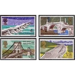 4 عدد تمبر پلها - انگلیس 1968
