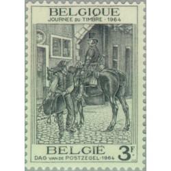 1 عدد تمبر روز تمبر - بلژیک 1964