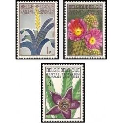 3 عدد تمبر نمایشگاه گل در گنت - بلژیک 1965