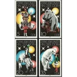4 عدد تمبر سیرک - جمهوری دموکراتیک آلمان 1978