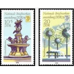 2 عدد تمبر نمایشگاه ملی تمبر - جمهوری دموکراتیک آلمان 1979