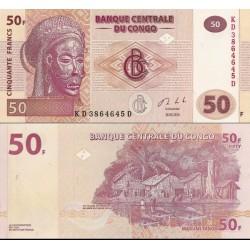 اسکناس 50 فرانک - کنگو 2013