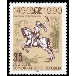 1 عدد تمبر 500مین سال خدمات پستی -  جمهوری دموکراتیک آلمان 1990