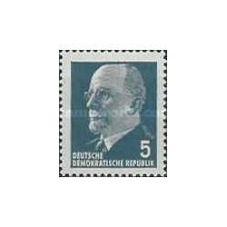 1 عدد تمبر سری پستی - والتر اولبریچ - 5 -  جمهوری دموکراتیک آلمان 1961